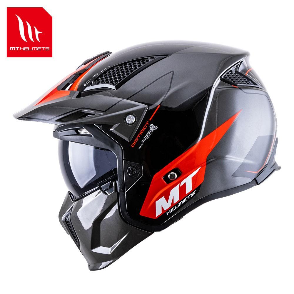 【爆款熱賣】西班牙MT復古頭盔街霸組合盔可拆卸半盔全盔哈雷機車安全帽四季