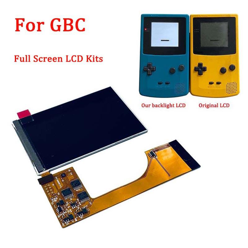 適用於Nintendo Gameboy Color可替換IPS全屏LCD背光套件,用於GBC遊戲機IPS背光LCD屏幕