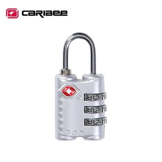 【Caribee 澳洲 TSA 密碼鎖《銀》】CE-1375/ 海關鎖/ 防盜鎖/ 安全鎖/ 三碼鎖 新竹市