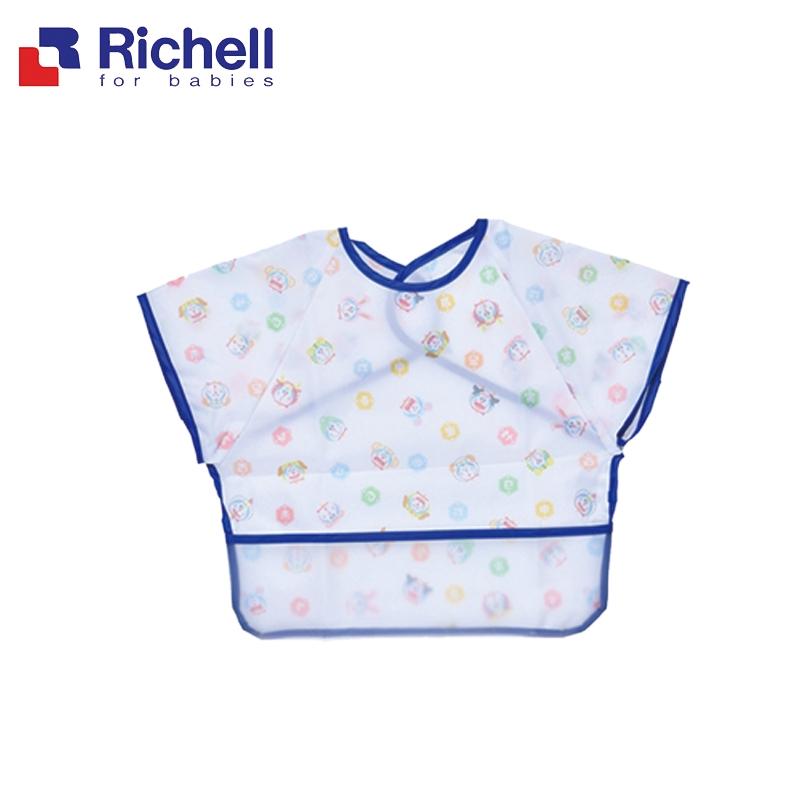 Richell利其爾 哆啦A夢Doraemon 防水圍兜7M+(短袖) 米菲寶貝