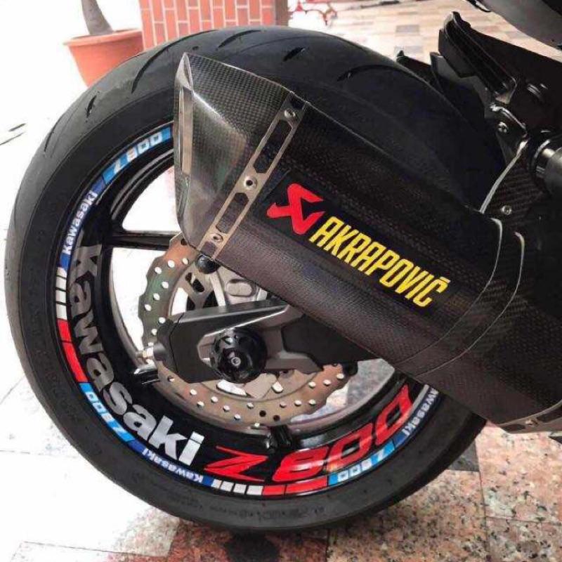 Kawasaki Z1000 Z900 Z800 Z650 Z400 Z300 Z250 輪框貼 輪圈貼 輪框反光貼