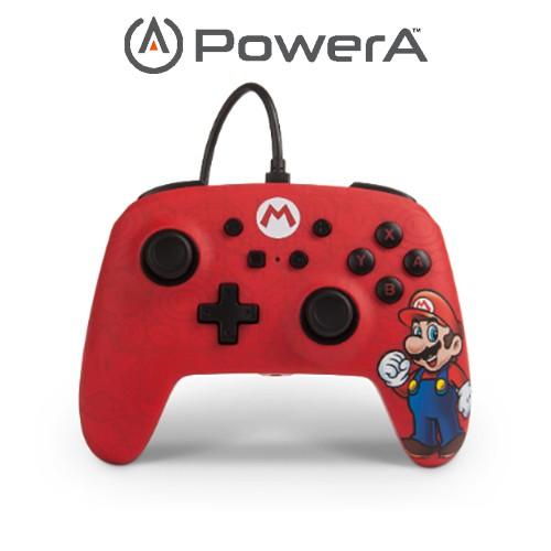 PowerA | 美國原廠現貨 任天堂 Nintendo Switch 有線手把 搖桿 馬力歐限定款【含運】