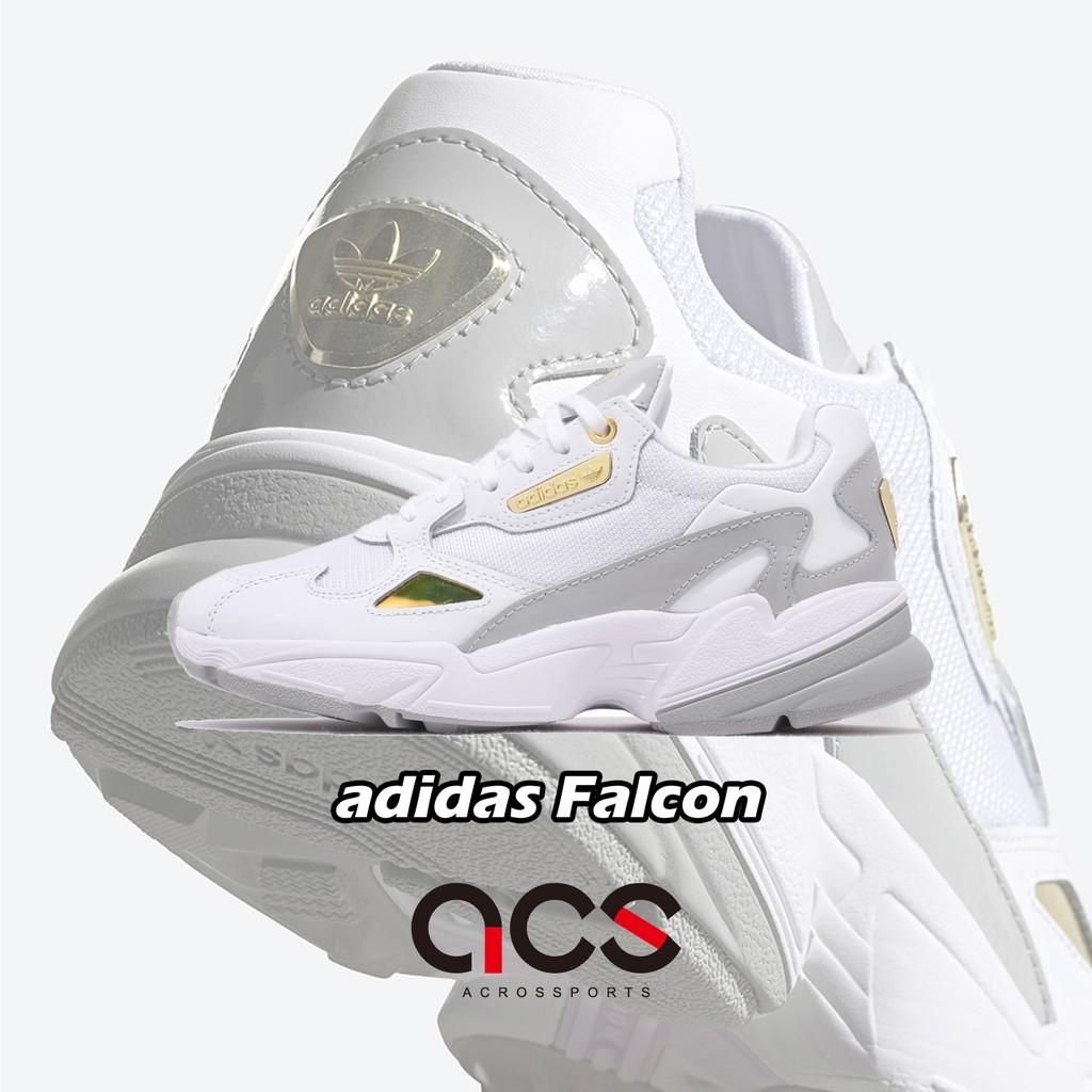 adidas 休閒鞋 Falcon W 白 金 灰 女鞋 老爹鞋 運動鞋【ACS】 FV5091