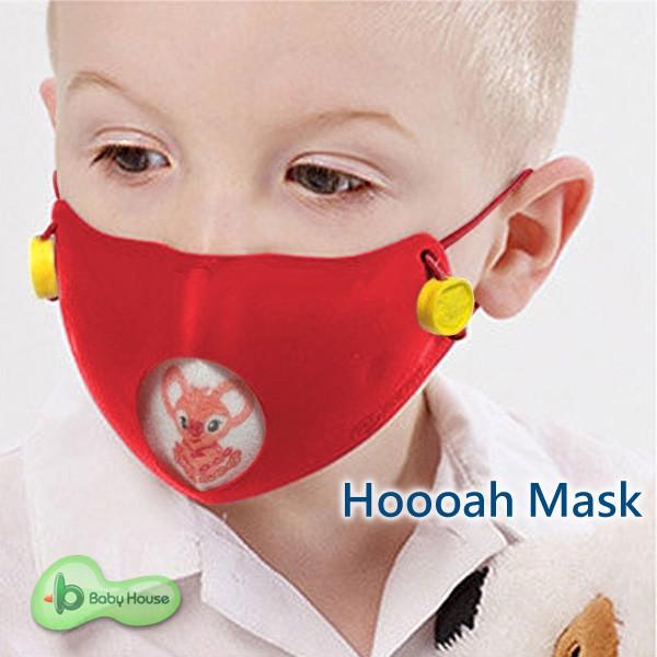 Hoooah 波卡卡通兒童可換雙層抗 菌防護口罩-無尾熊粉 (防護面罩+3入補充濾材)