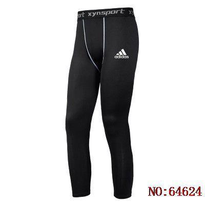 愛迪達Adidas 運動緊身褲 透氣速乾 吸濕排汗 籃球內搭褲 緊身長褲 運動束褲男 籃球 跑步 健17567