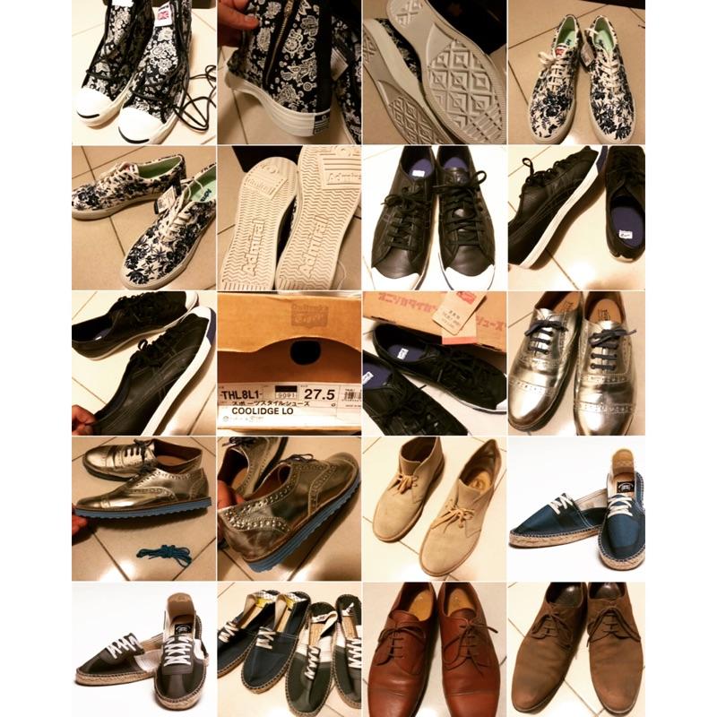 英國Admiral 緹花 高筒 帆布鞋