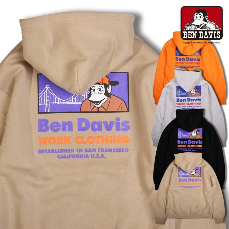 BEN DAVIS MINI GORILLA EMB HOODIE 胸口 刺繡 猿人 帽T 4色