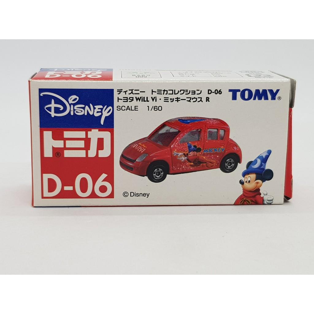 【小車停車場】TOMICA 迪士尼 魔法 米奇 D-06 TOYOTA Will 紅 附膠盒
