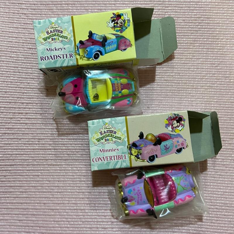 Tomica 東京迪士尼園區 2011年 復活節 限定 米奇米妮敞篷跑車