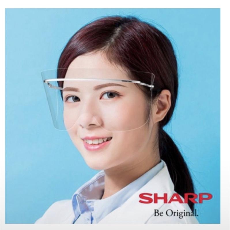 現貨在台《鈦合金輕量系列》【SHARP夏普】奈米蛾眼科技防護面罩/半罩式M