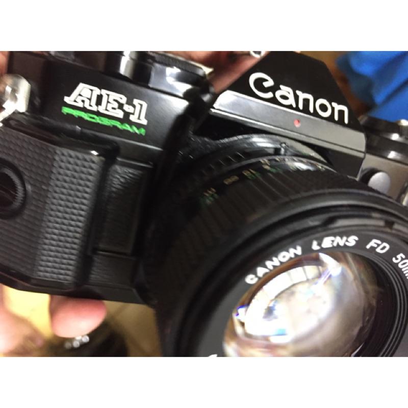 底片 單眼相機 canon ae1 p program 50mm f1.4 鏡頭小霉 拆不下來