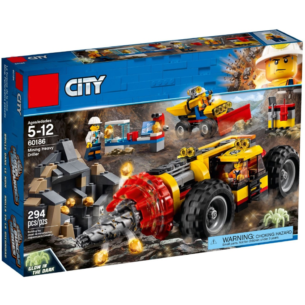 「現貨銷售」玩具 相容樂高  60186重型採礦鑽機02101 W 城市系列 L1 jQWg