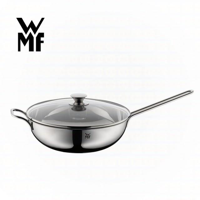 【德國WMF】WMF 不鏽鋼單手中式炒鍋 30cm (含蓋)