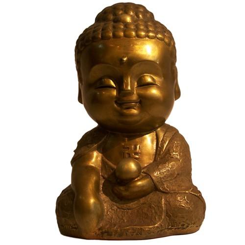 子問 限量原作銅雕 Q佛系列-西方三聖/阿彌陀佛 附作品典藏證明書
