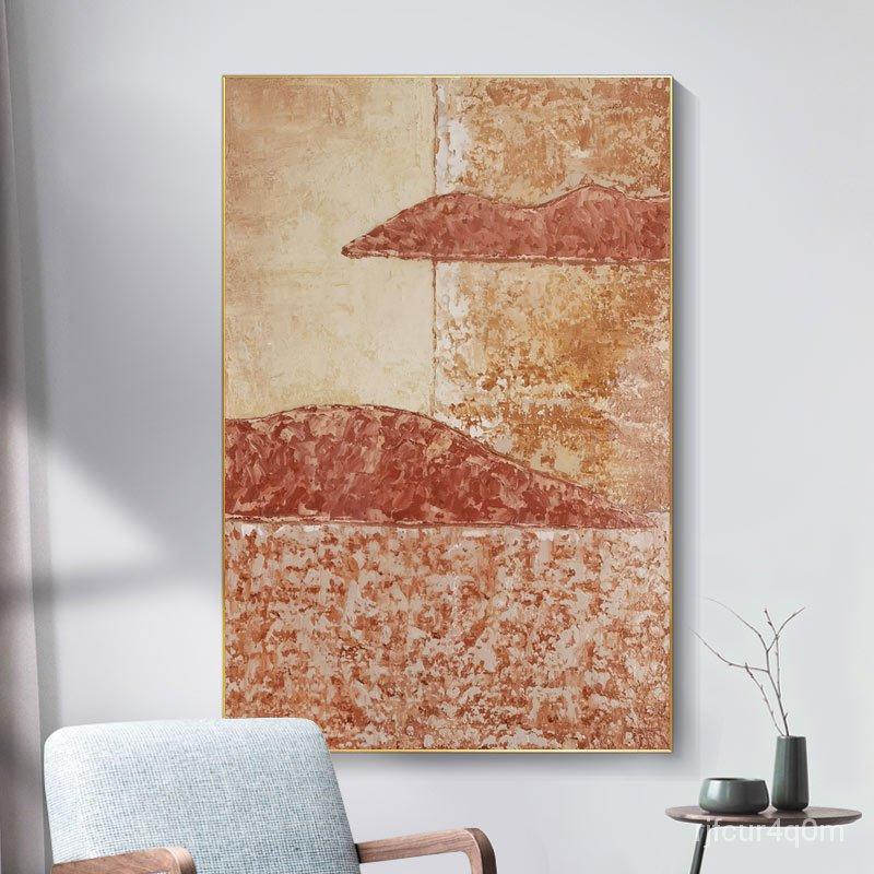 【新品免運】客廳沙發背景墻畫大幅裝飾壁畫輕奢手繪晶瓷油畫現代入戶玄關掛畫