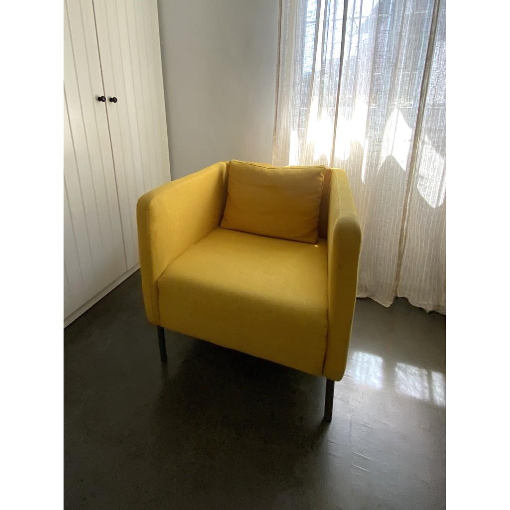 二手傢俱 IKEA黃色扶手椅/單人沙發