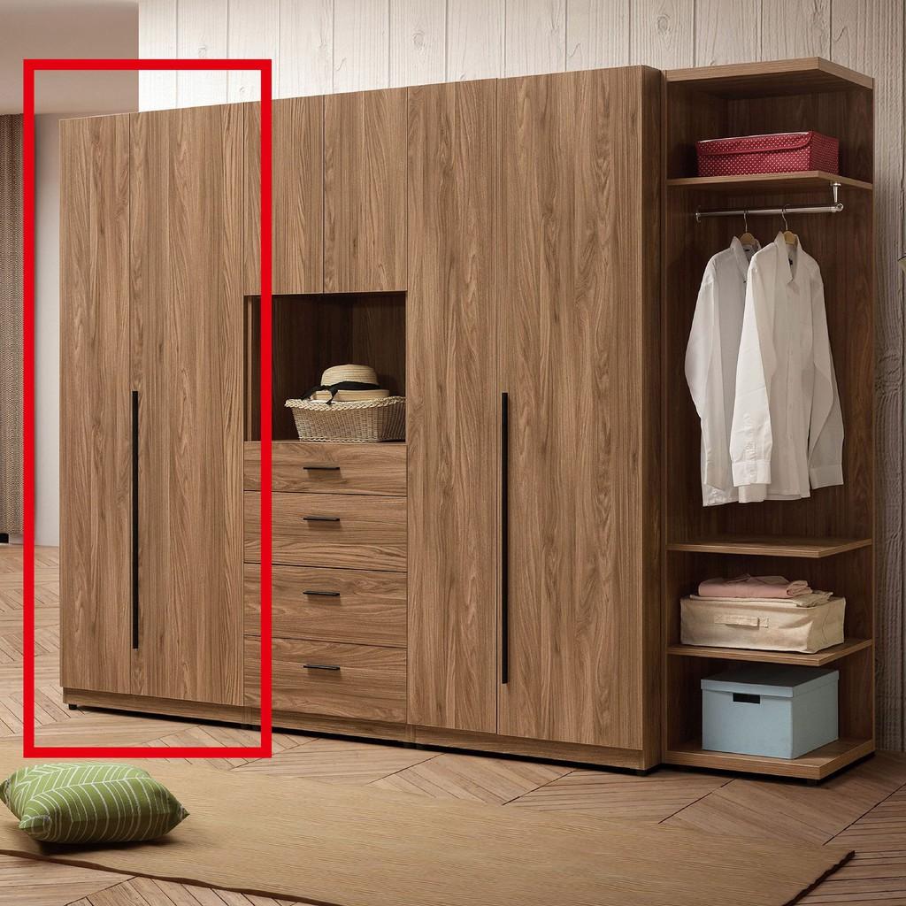 【75.5cm單吊衣櫃-A115-2】木心板 推門滑門開門 衣服收納 免組裝 【金滿屋】