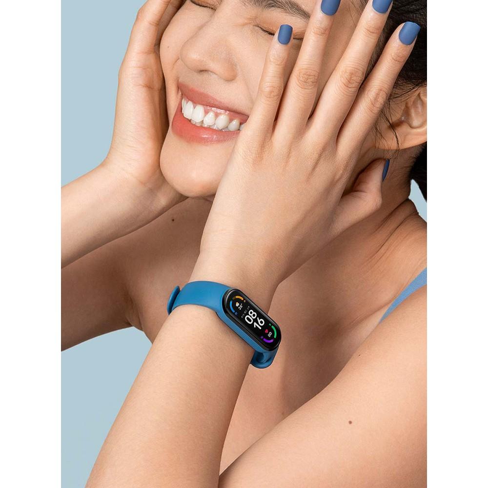【小米科技生活館】小米手環6NFC版 智能手環5代 全屏運動 電子手錶男防水情侶新品紅米手環