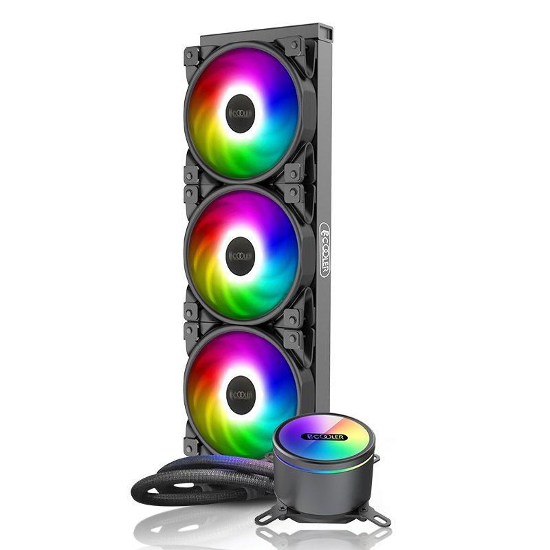 超頻三凌鏡360水冷CPU散熱器ARGB一體式水冷AM4/115X/2011/2066 gduF