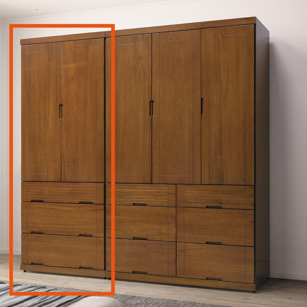 【80cm衣櫃-B160-02】木心板 推門滑門開門 衣服收納 免組裝【金滿屋】