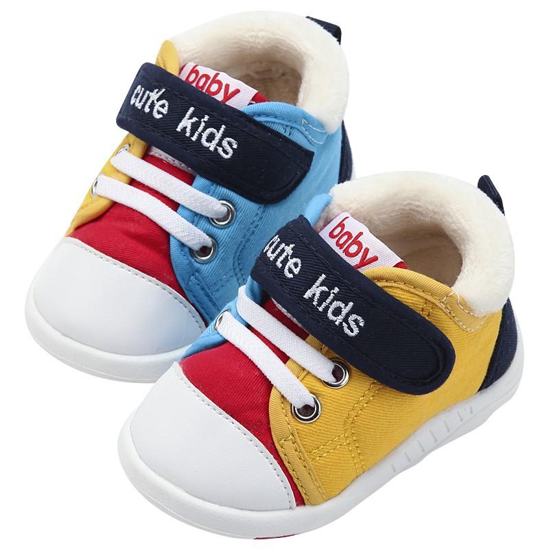 學步鞋男寶寶0一1-3歲2秋冬季嬰幼兒鞋子女寶寶軟底加絨加厚棉鞋
