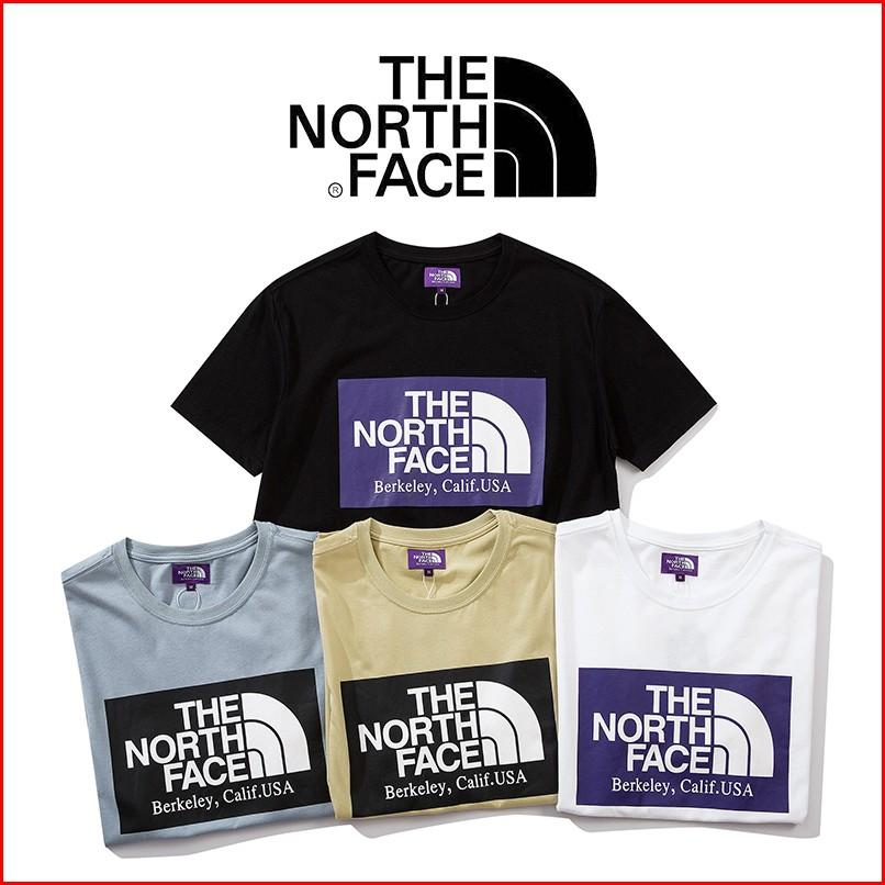 ✅✅✅4色現貨 THE NORTH FACE 紫標印花 情侶款 短袖T恤 TNF 寬鬆 短T 北臉 打底衫 男女 TEE