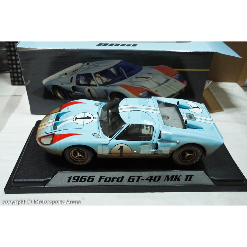 【現貨特價】賽道狂人 1:18 Shelby Ford GT40 MK 2 No.1 LeMans 1966 Miles