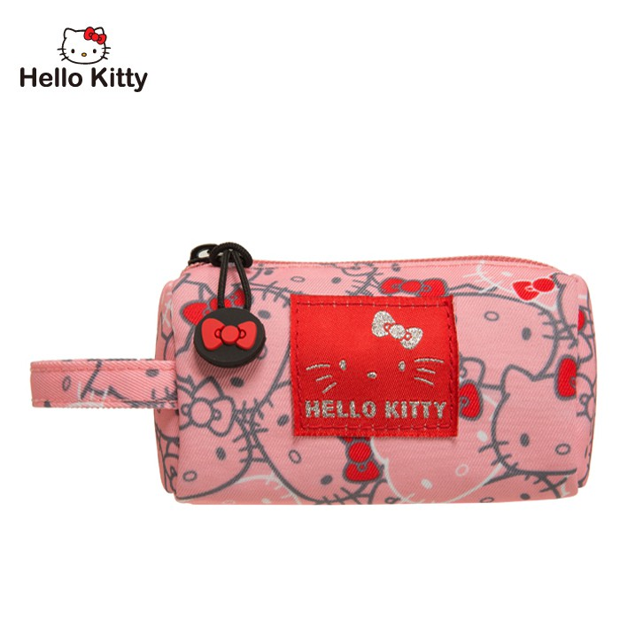 Hello Kitty 繽紛凱蒂-圓筒零錢包-粉 KT01V06PK 零錢包