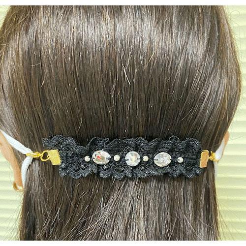 日本製 美型 口罩 減壓 耳後帶 舒緩耳朵痛 公主風 蕾絲 現貨 兩色可選