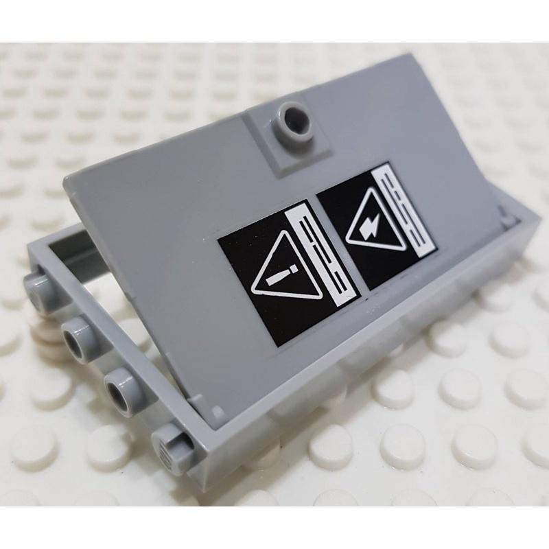 樂高 60596 60130 淺灰色 框 門 變電箱 貼紙 配件