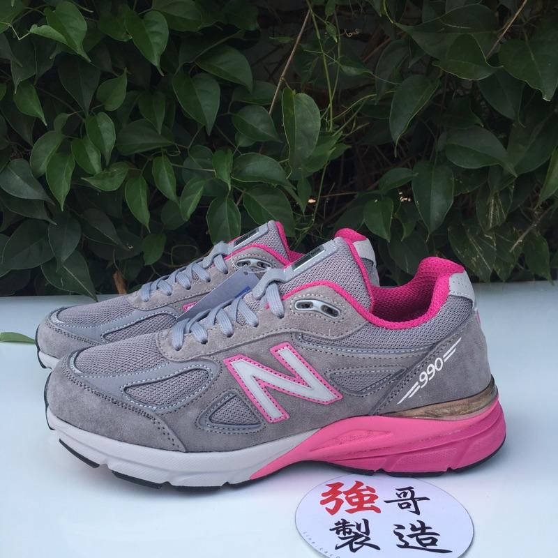 outlet store 35d67 1da12 『強哥製造』W990GP4 NEW BALANCE 990 MADE IN USA 灰 桃紅 粉 麂皮 慢跑鞋 女鞋