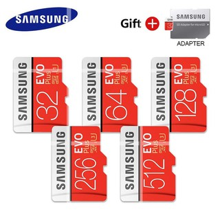 SAMSUNG EVO+ MicroSD卡512G 256G 128GB 64GB Class10 U3 SDXC存儲卡