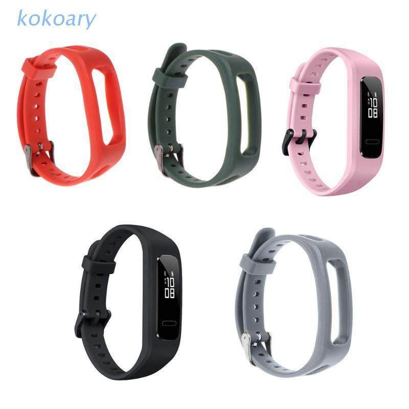 華為 Kok 腕帶錶帶 TPU 可調式手鍊運動更換, 適用於 Huawei 3E / Honor Band 4 跑步版