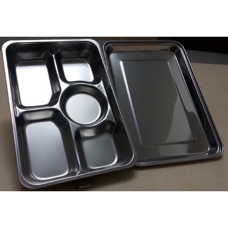 ✿團媽五金百貨✿ 蝴蝶牌304不鏽鋼雙扣五格附蓋餐盤