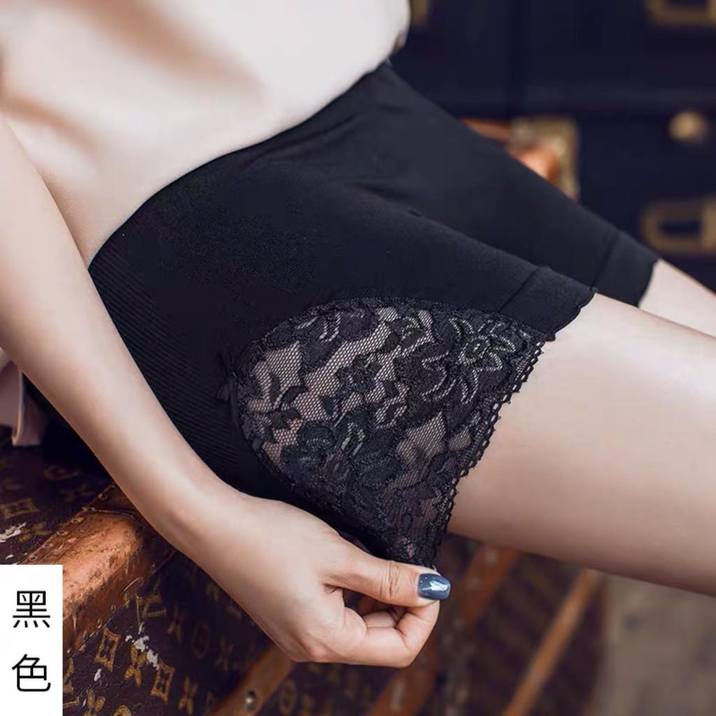 兩條裝僅169 女生內褲 短褲 蝴蝶結蕾絲 安全褲 日本二合一 夏季薄款 防走光三分褲 胖mm 銀離子檔短內褲 打底褲