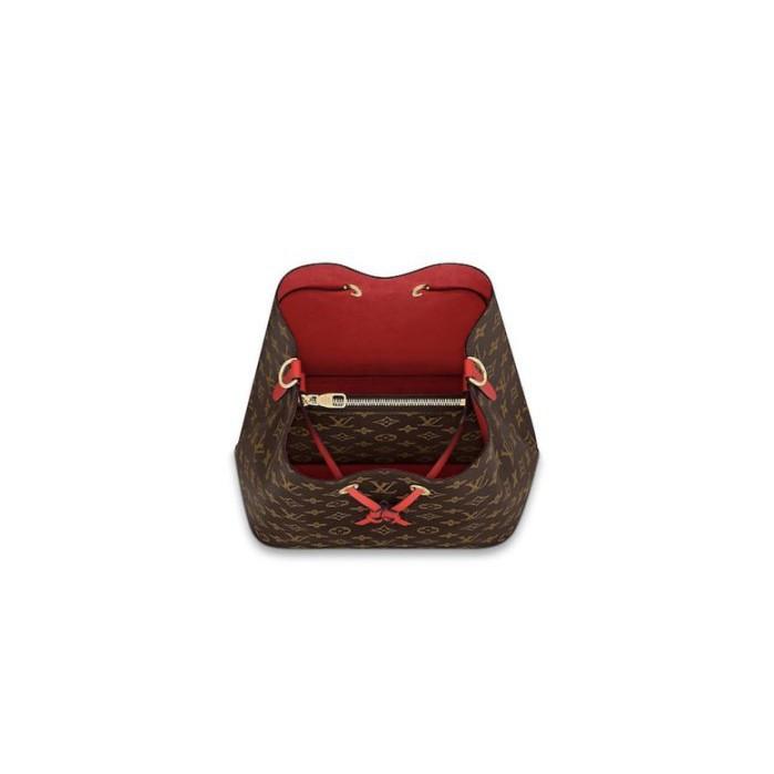全新正品 LV M43985 紅色 NéoNoé 新款 束口式水桶包 +編織手柄