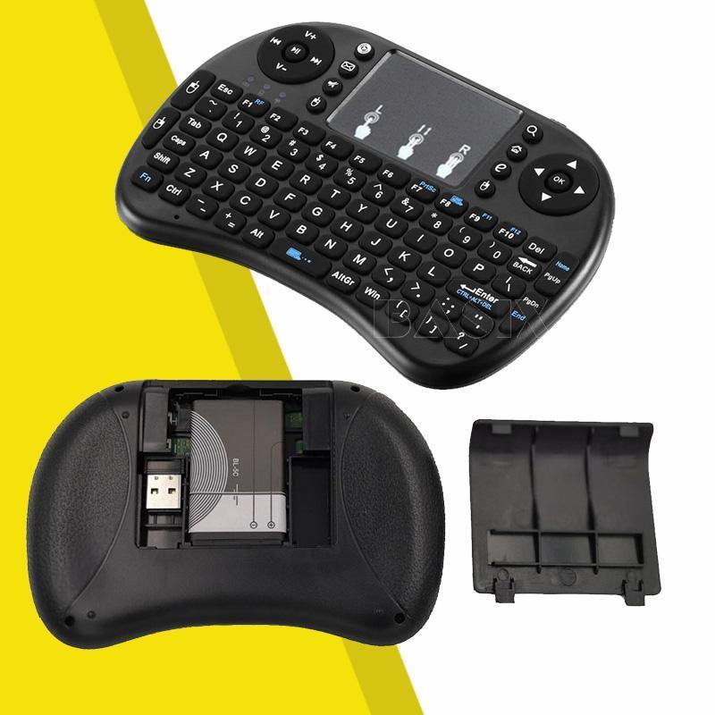 無線 飛鼠鍵盤 飛鼠遙控器 mini無線鍵盤鼠標大觸摸板多媒體按鍵遙控飛鼠機頂盒電腦電視通用 DBrK