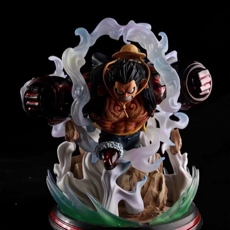 「毬毬的窩」現貨 港版 翻模 GK KOL 魯夫 海賊王 鐵拳路飛 四檔路飛 雙拳路飛 戰鬥場景 雕像 盒裝公仔