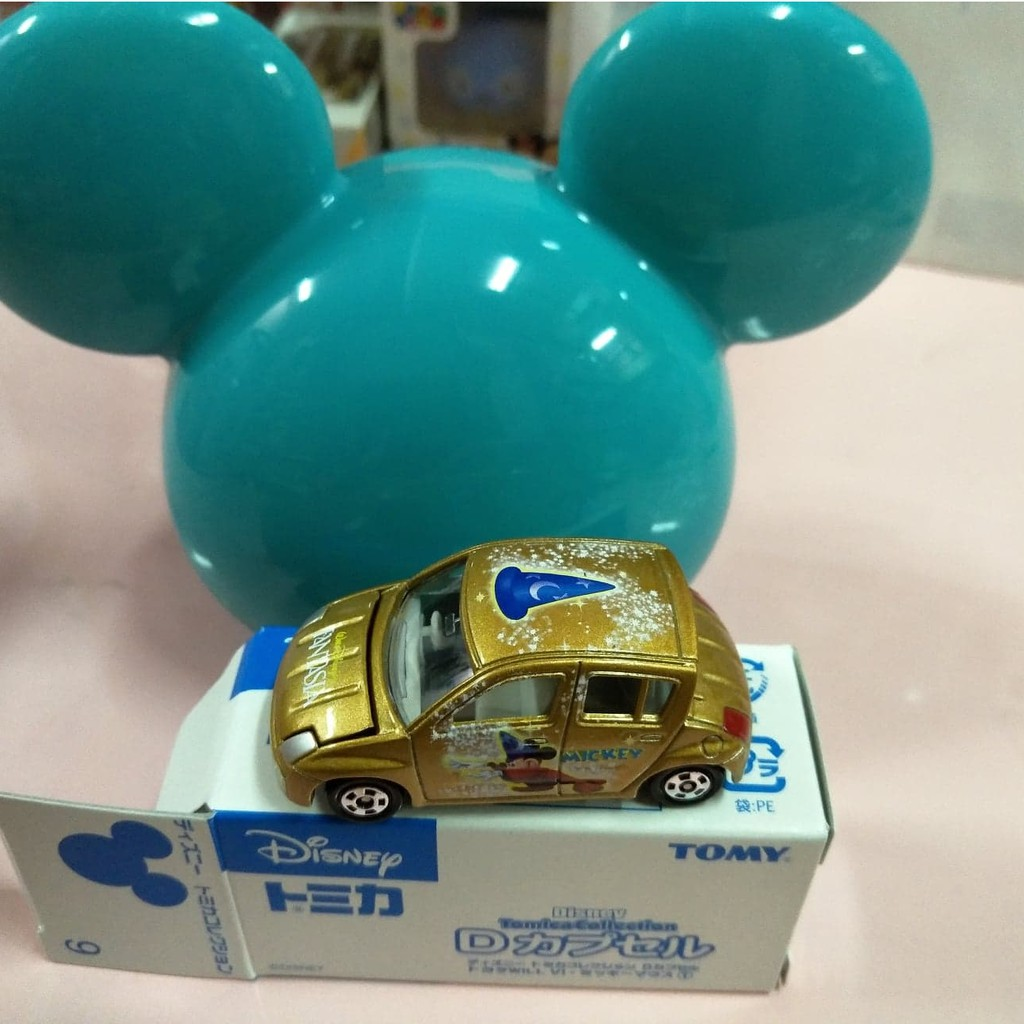 Tomica多美 Disney 廸士尼抽抽樂第1彈Toyota Will Vi 金色魔法米奇(附米奇彈頭)