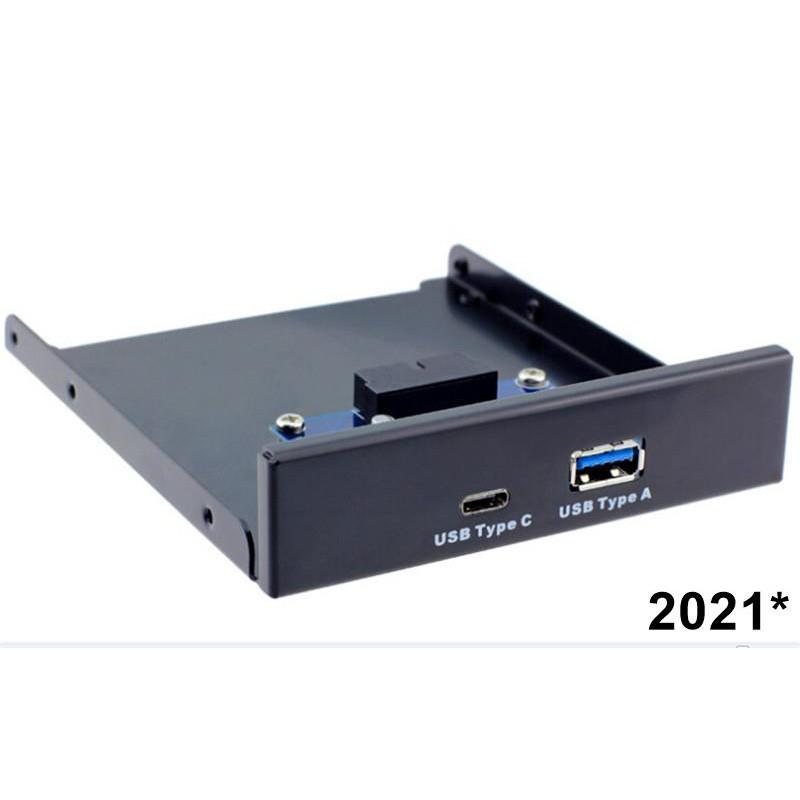 特價USB 3.1 Type-C軟驅位前置面板USB3.0 A母+C母口電腦擴展USB
