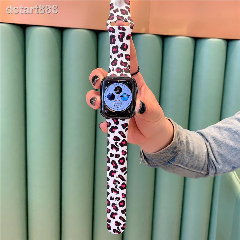 高品質手錶帶 表帶適用apple watch表帶彩繪硅膠蘋果手表表帶運動型serise iwatch6/4/3