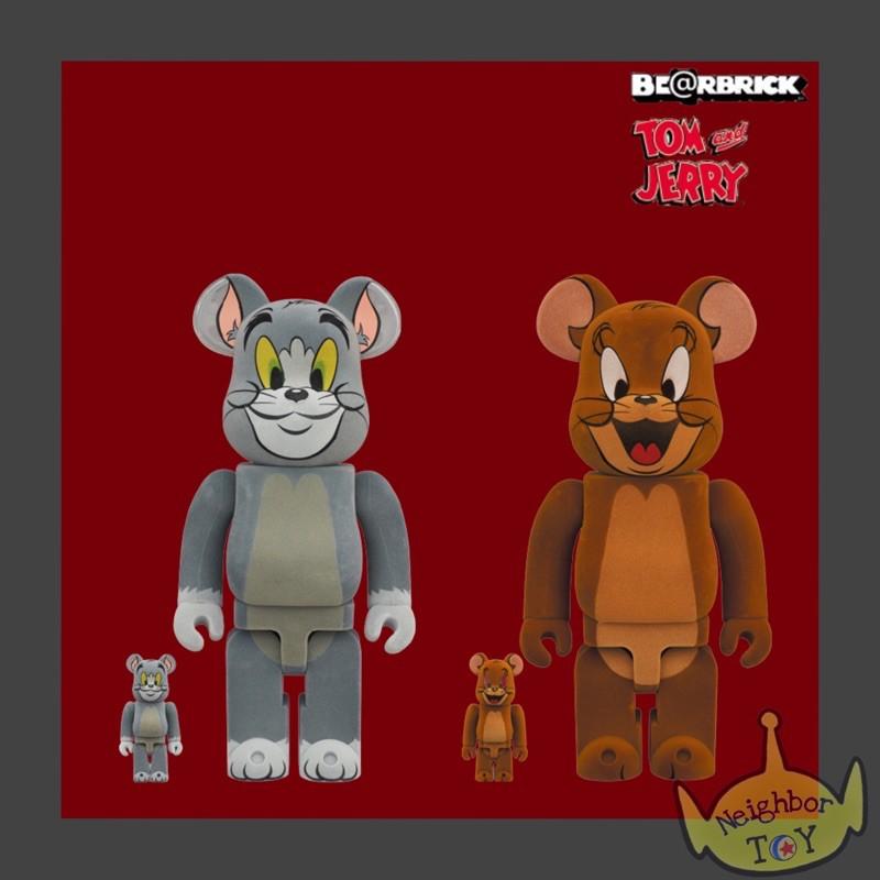 Neighbör TOY 現貨 Be@rbrick bearbrick 湯姆與傑利鼠 TOM & JERRY 植絨 一對