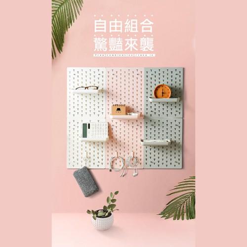 無痕廚房衛浴收納洞洞板-23.5X31cm(白色)[大買家]