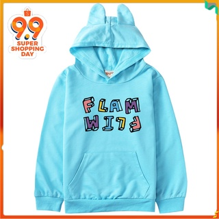 火烈鳥 Flim Flam 貓耳朵連帽衫兒童套頭衫連帽兒童連帽衫 8582