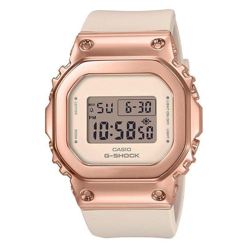卡西歐手錶女新款G-SHOCK系列經典金屬小方塊GM-S5600酷炫潮流女 MxCH