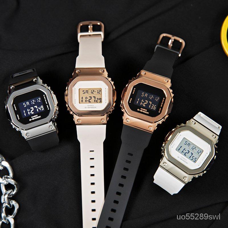 開學季CASIO卡西歐手錶G-SHOCK新款運動金屬方塊男女GM-S5600-1/7/PG-4 apRa
