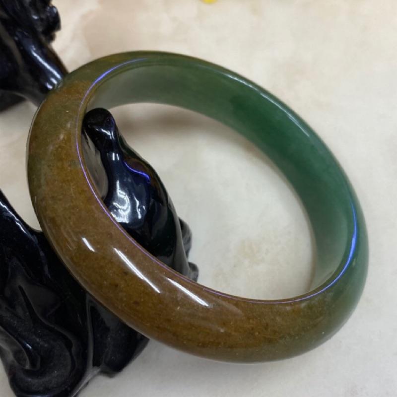(附台證)19圍東菱玉 特殊鐲 天然東陵玉手鐲手環