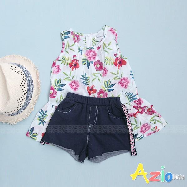 Azio Kids 童裝-短褲 滿版船錨口袋鬆緊短褲(藍)