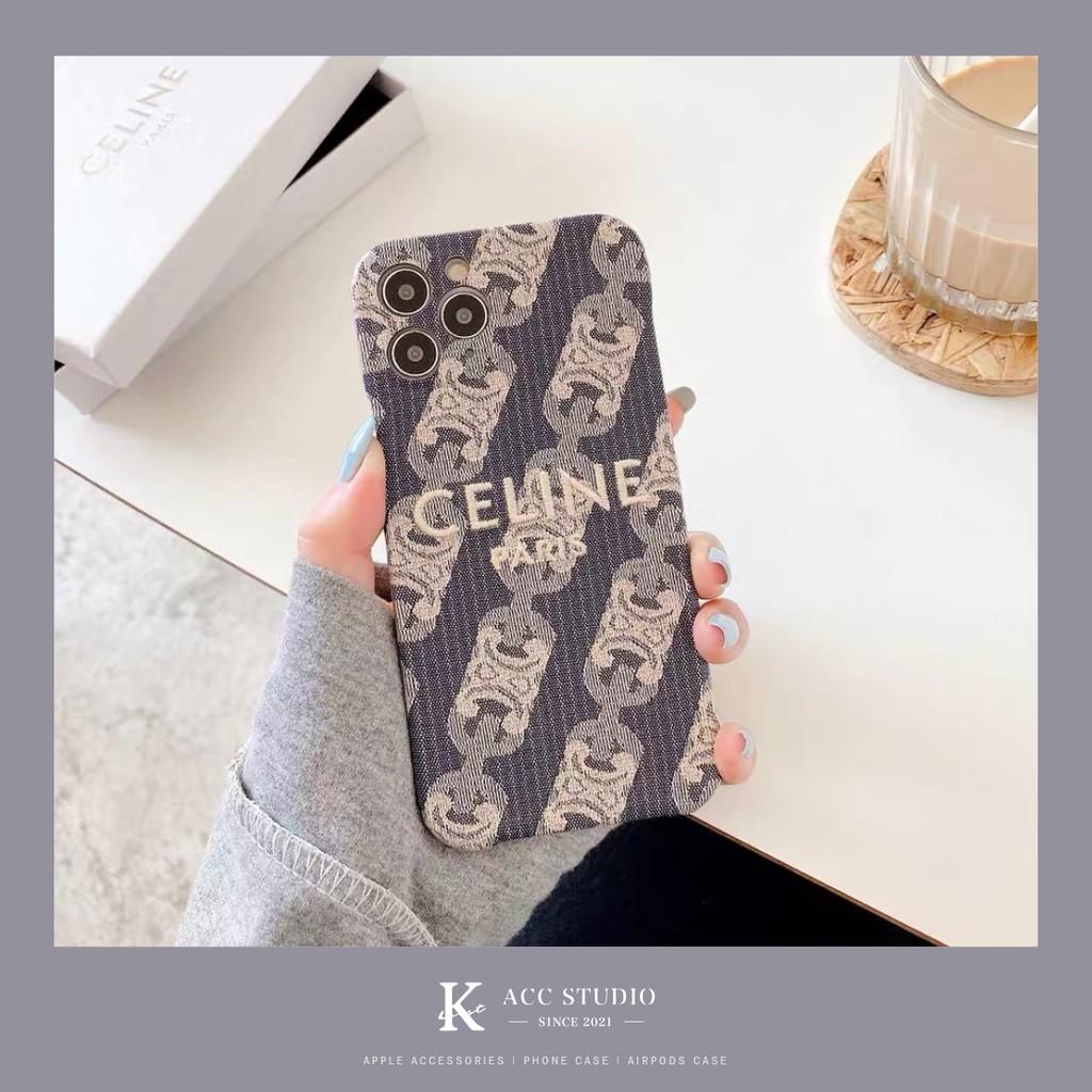 CELINE復古牛仔刺繡手機殼 IPhone case