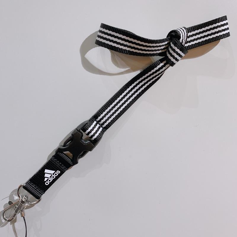 Adidas per lanyard 愛迪達 證件帶 黑白 三線 鑰匙扣 ED1757